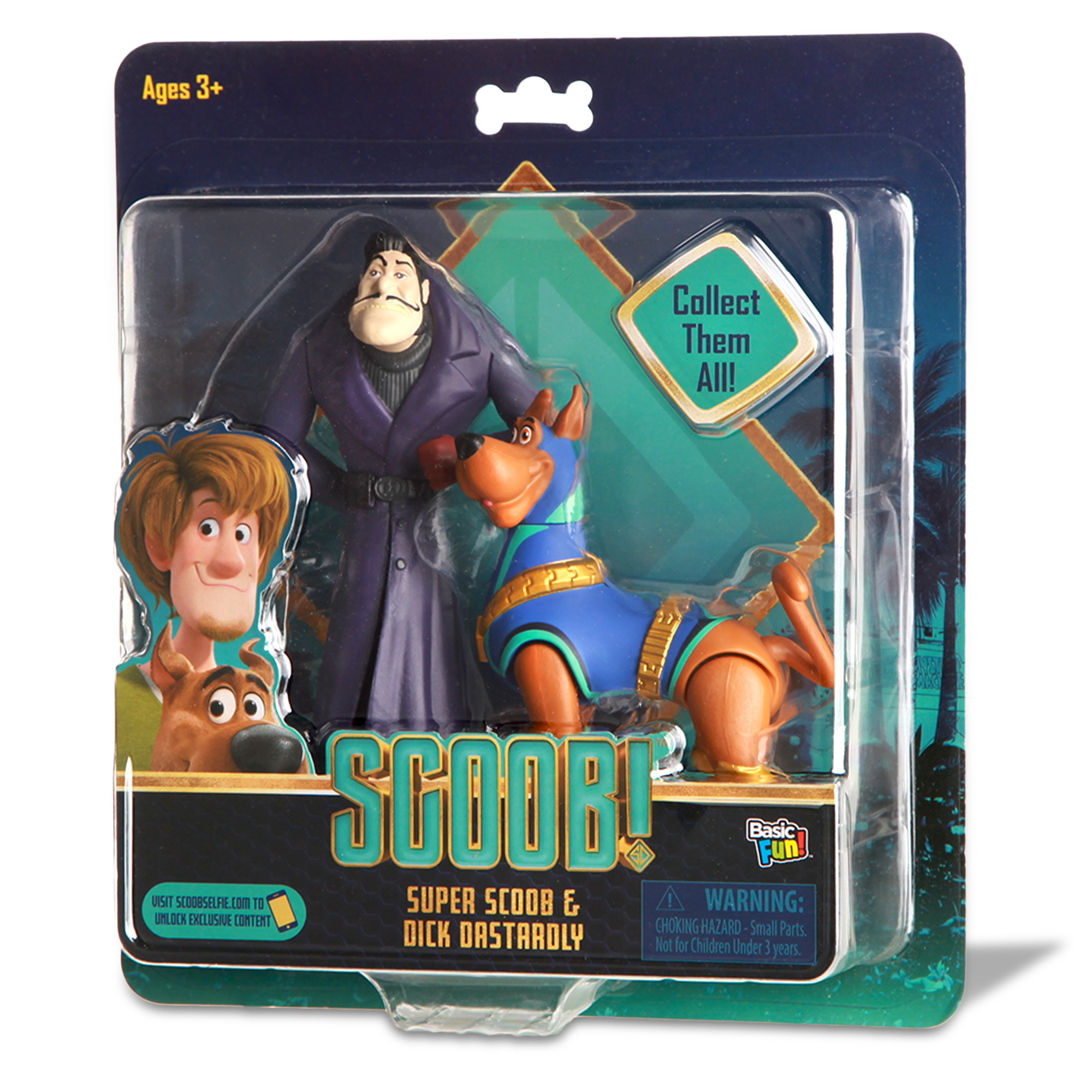 New Scoob Movie Action Figure 2 pack Scooby-Doo /& Captain Caveman Sealed