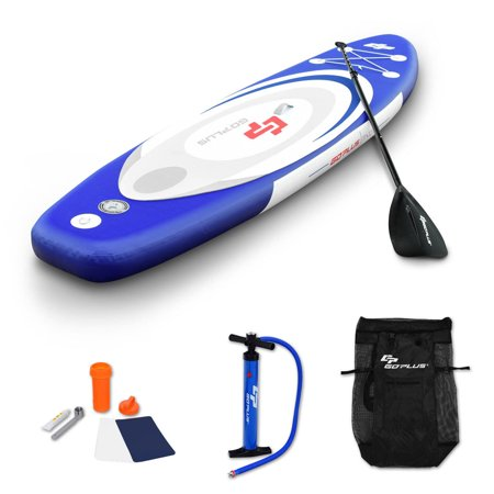 Goplus 11' Inflatable Stand up Paddle Board Surfboard SUP W/ Bag Adjustable Paddle Fin