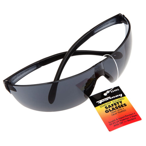 Forney 55402 Safety Glasses Squared Lens Gray