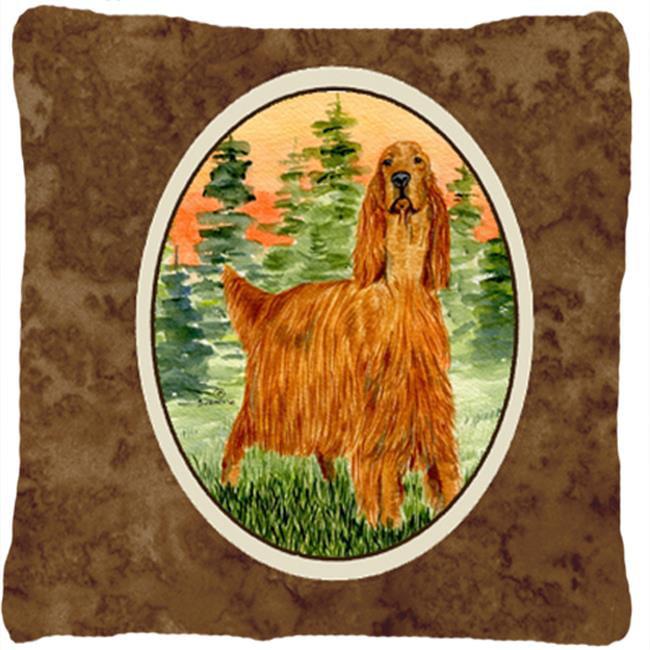 Carolines Treasures SS8625PW1414 Irish Setter Decorative Fabric Pillow - 14 x 14 in. - image 1 de 1