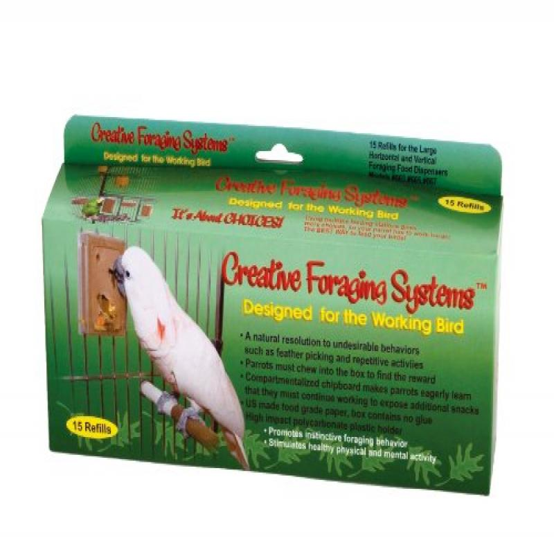 Creative Foraging Systems 661 Large Refill Boxes, 3 inches Wide X 6 inches