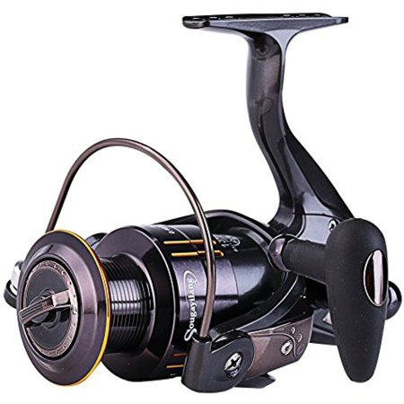 Sougayilang Spinning Reel with CNC Machined Aluminum Spool 13+1 BB Fishing Reel, Light Weight Ultra Smooth Powerful Spinning Fishing Reel, for Boat Rock Freshwater Saltwater (Boat Reel)