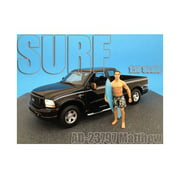 Surfer Matthew Figure For 1:18 Diecast Model Cars by American Diorama