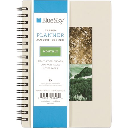 Blue Sky 4 Seasons 4 X 6 Monthly Planner January 2018 To December