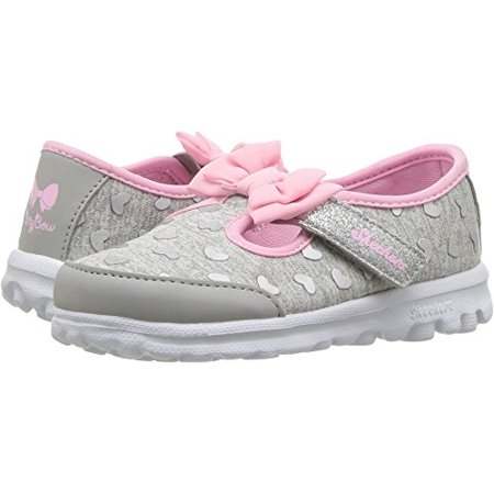 5ae47c2ad002 Skechers - Skechers Kids Womens Go Walk - Bitty Heart 81162N  (Infant Toddler Little Kid) Gray Pink 11 Little Kid M - Walmart.com