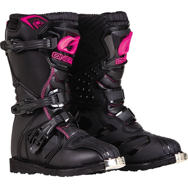 Oneal 2019 Girls Youth Kids Rider Offroad Boots Black/Pink - 0325
