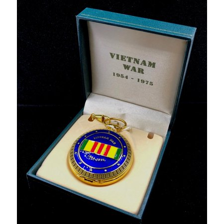 Vietnam War Medal Pocket Watch with Matching Fob Chain. Veteran gift idea - Medical Pocket Watch