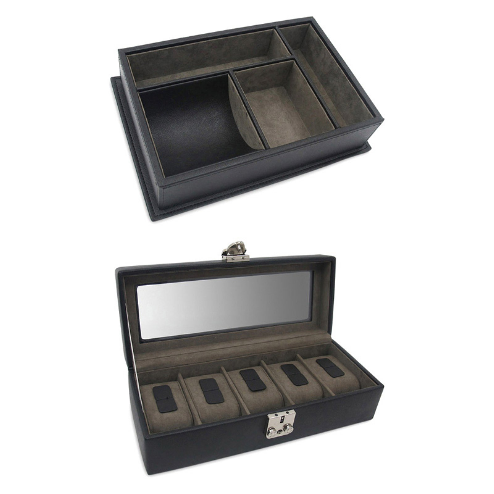Morelle & Co Watch Box & Desk Organizer Gift Set