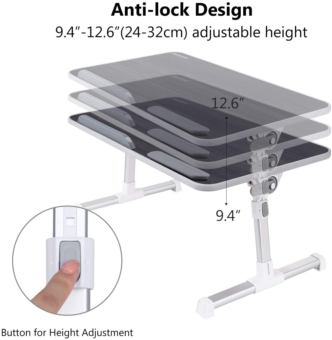 Laptop Bed Tray Table Nearpow Larger Size Adjustable Laptop Bed Stand Portable Standing Table With Foldable Legs Walmart Canada