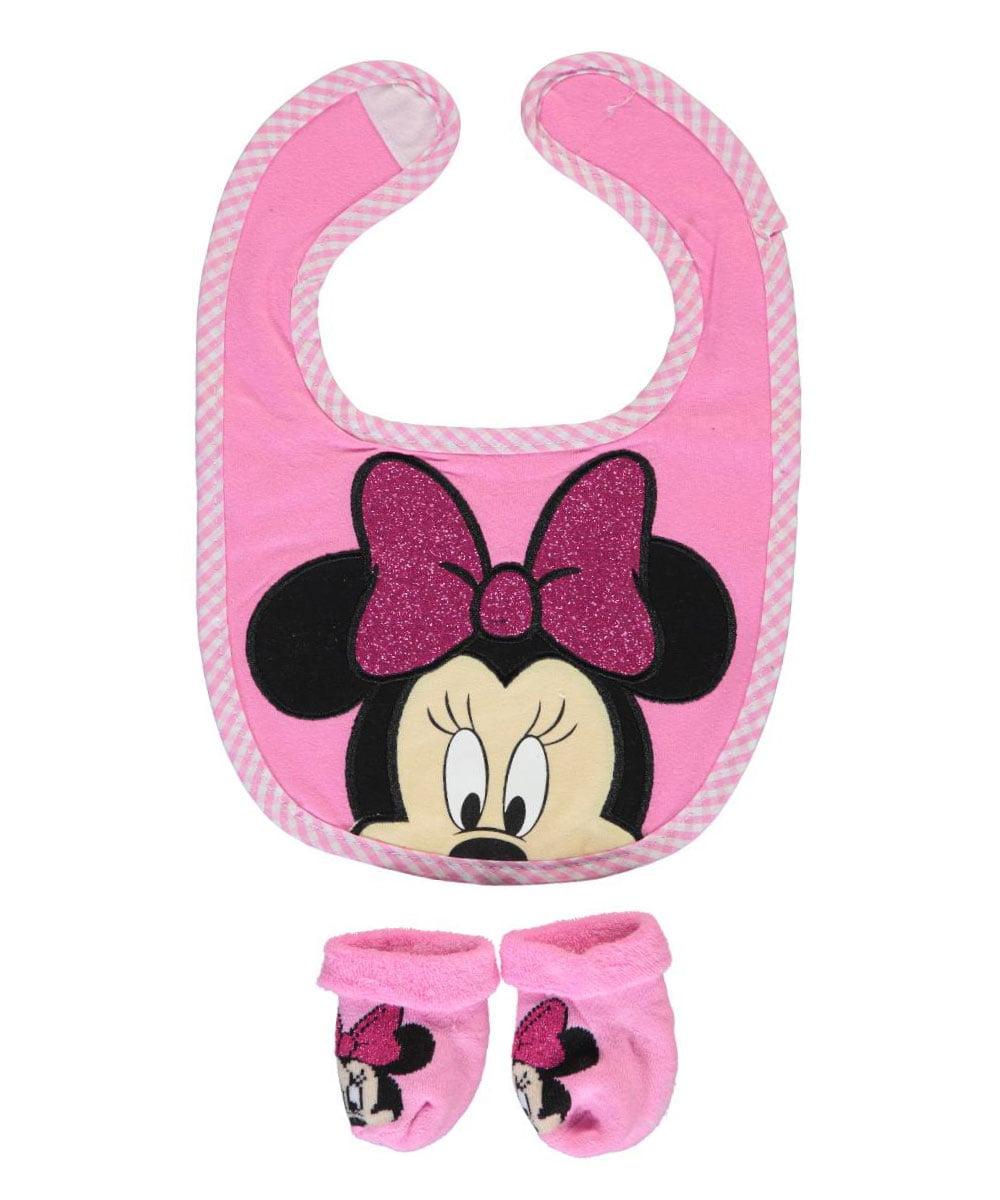 Disney Baby Girls Minnie Mouse Headband and Bib Set 0-12 Months