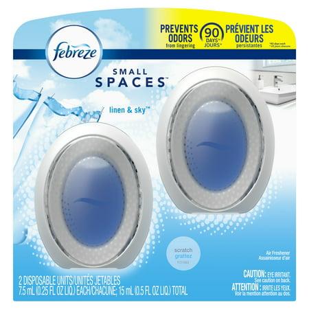 Febreze Odor-Eliminating Small Spaces Air Freshener - Linen & Sky - 2ct