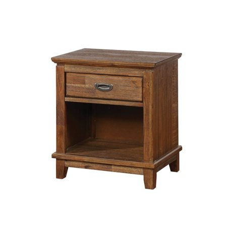 Furniture of America Henry Transitional Nightstand in Dark