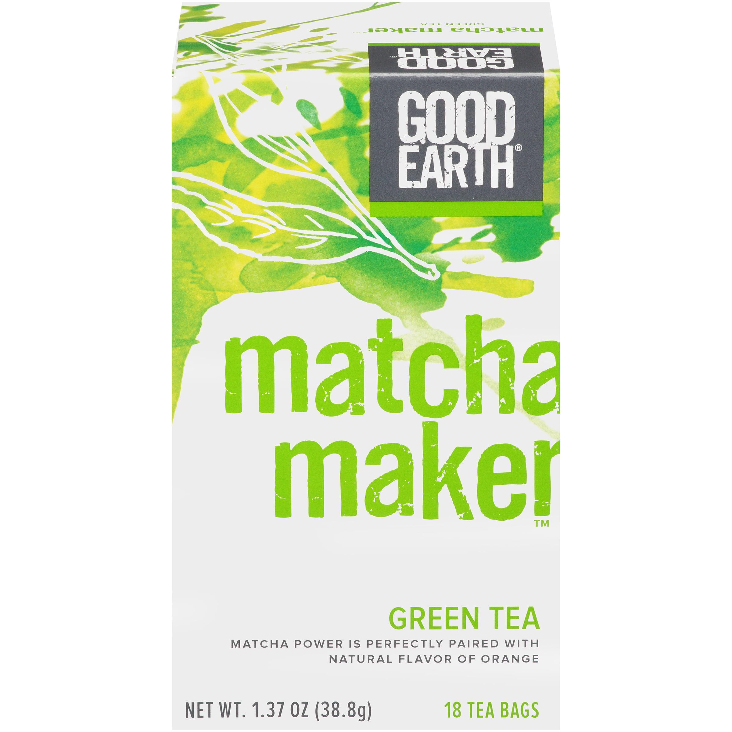 (3 Pack) Good Earth Matcha Maker, Green Tea, Tea Bags, 18 Ct