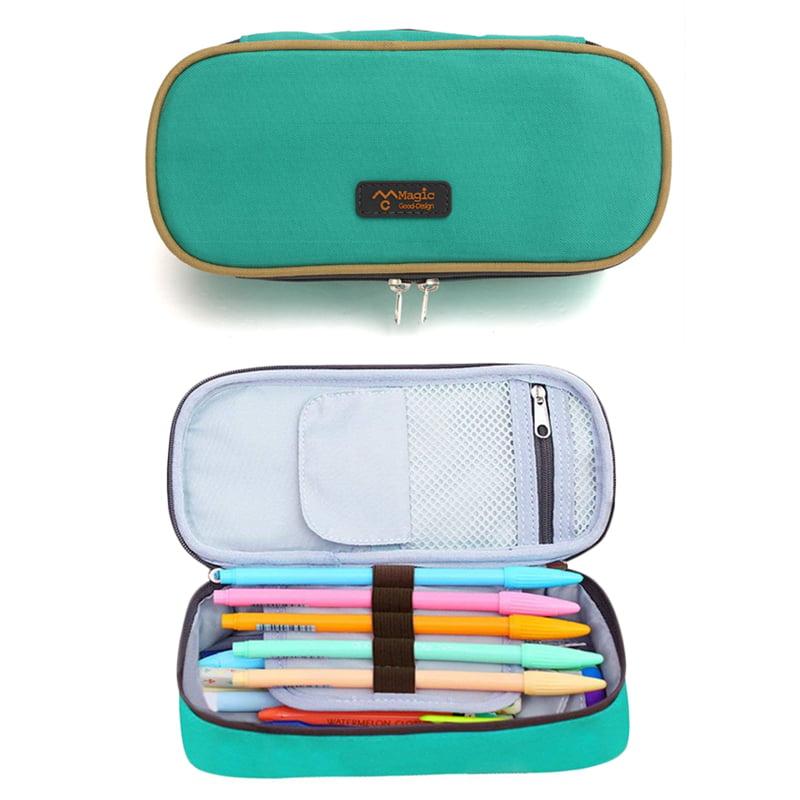 Pencil Case Dunder Mifflin Logo Big Capacity Pencil Bag Makeup Pen Pouch with Double Zipper Pen Holder for School Office