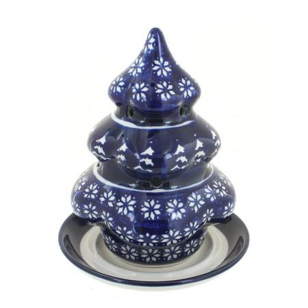 Polish Pottery Winter Nights Christmas Tree Luminary ()