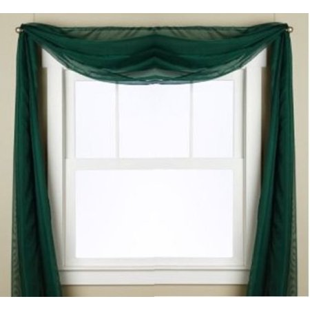 1 PC SOLID HUNTER GREEN SCARF VALANCE SOFT SHEER VOILE WINDOW PANEL CURTAIN 216