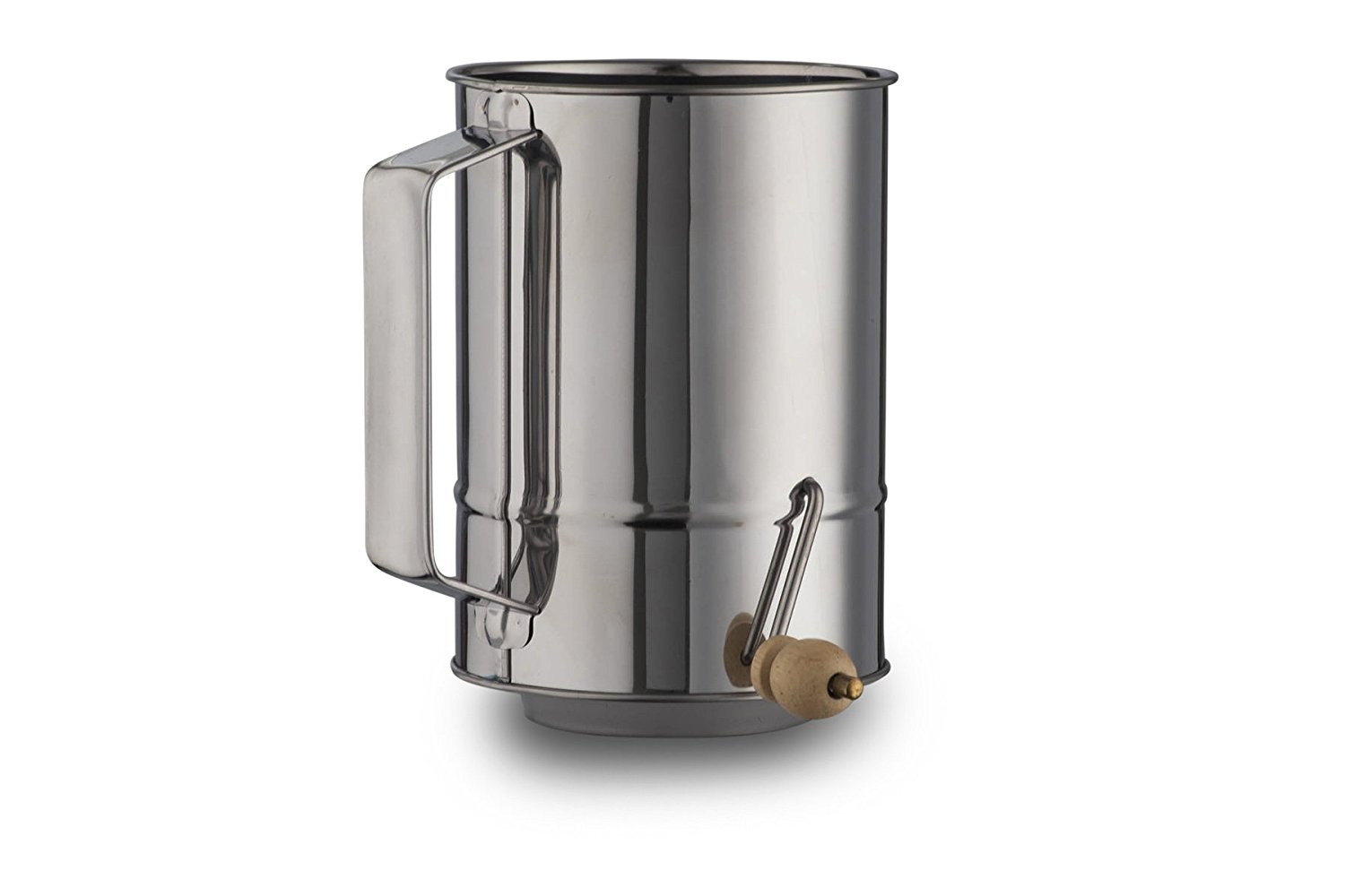 5 Cups Crank Flour Sifter Stainless Steel Polished Finish ( by Kitchen Winners ) by Kitchen Winners