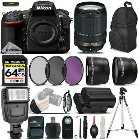 Nikon D810 DSLR Camera 36.3MP + Nikon 18-140mm VR Lens - Ultimate Saving Bundle