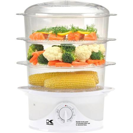 2 Tray Food Steamer (Kalorik 3-Tier Food Steamer )