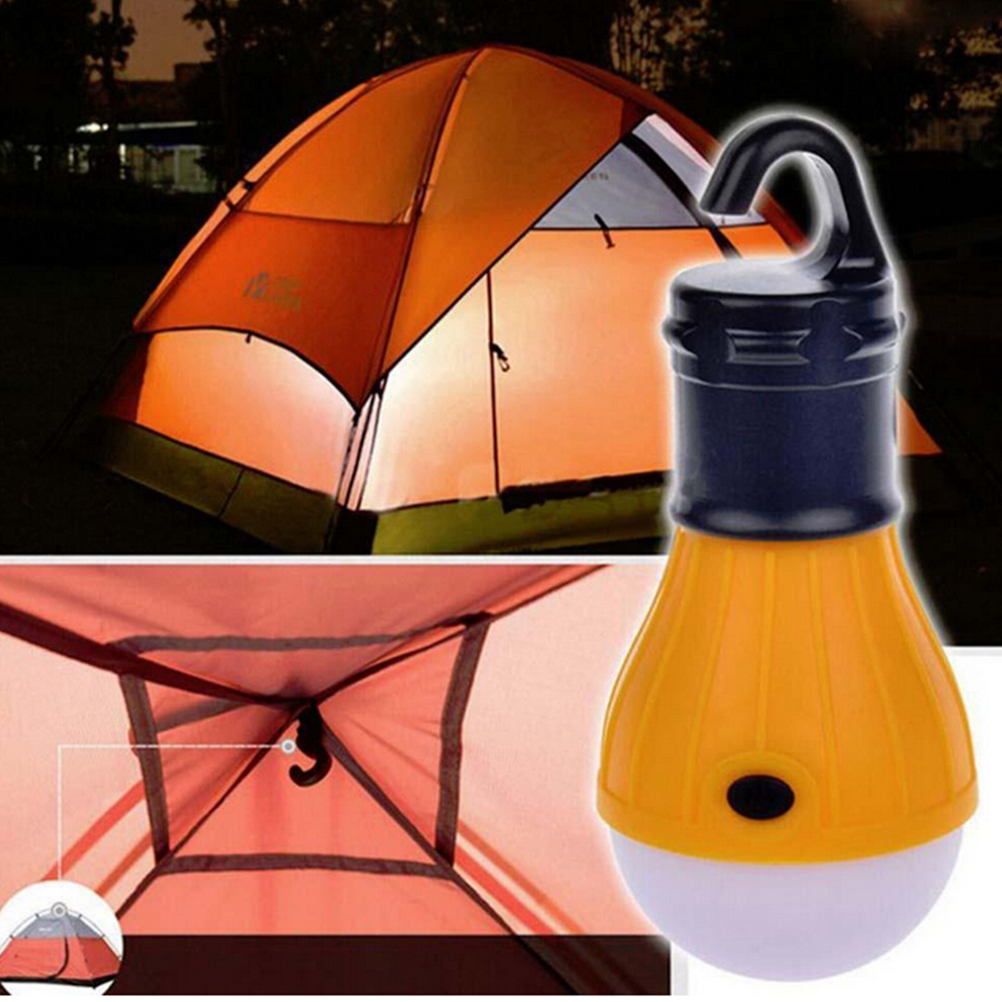 Portable LED Lantern Tent Light Bulb for Camping Hiking Fishing Emergency Battery Powered Light (Orange)
