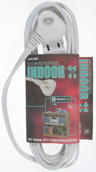 Coleman Cable SlenderPlug Indoor Cube Tap Extension Cord by Coleman Cable Inc