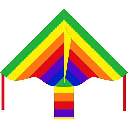 Flair Handles - HQ Kites Eco Line: Simple Flyer Rainbow 33