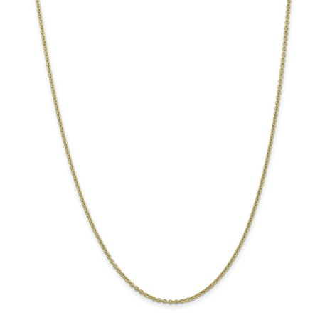 10k Yellow Gold 2mm Solid Link Cable Chain Anklet Ankle Beach Bracelet Round Gifts For Women For Her - Gold Marine Anklet
