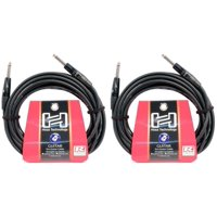 """2 Hosa HGTR-025 25 Foot 1/4"""" PRO Guitar Straight Cables"""