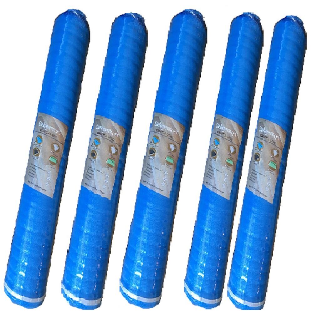 Dekorman 2mm Thickness Blue Foam Underlayment/Pad for floated flooring, 100 sq. ft / roll, 5 rolls per bundle (Total 500 sq. ft. / bundle)