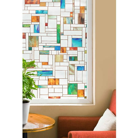 Artscape 24 x 36 melange decorative window film for 18 x 24 vinyl window