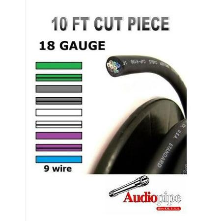 Audiopipe (9) 18 GA 10' Feet Speed Cable Alarm Speaker Hydraulics Trailer (Best Cheap Wired Speakers)