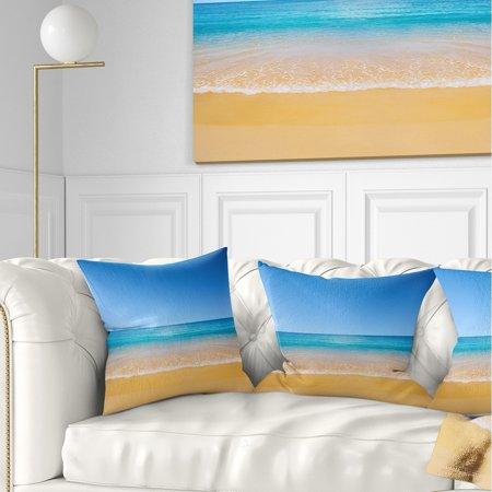 DESIGN ART Designart 'Dark View of Tropical Beach' Seashore Photo Throw Pillow - Tropical Beach Photos