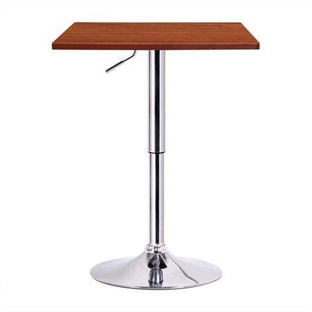 Boraam Luta Square Adjustable Height Pub Table, Multiple Colors