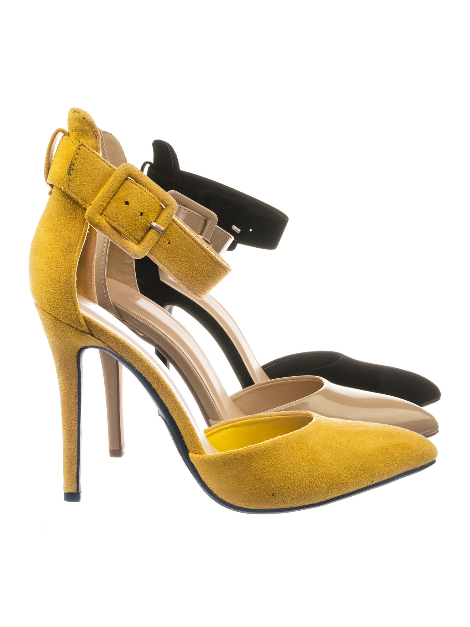 Sweep by Speed Limit 98, Ankle Strap Pointed Toe Dress Pump w Double Open Shank D'Orsay Cutout