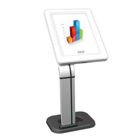 Pyle Anti-Theft iPad/Tablet Kiosk Public Display Stand Mount, for Tabletop, Desktop, Counter, etc. (Works with iPad Generations 2, 3, 4, iPad Air, iPad Air 2) (PSPADLK14) (Ipad Kiosk Desk Stand)