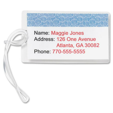 Sparco Pre-trimmed Laminated Luggage Tags, 100 per Box