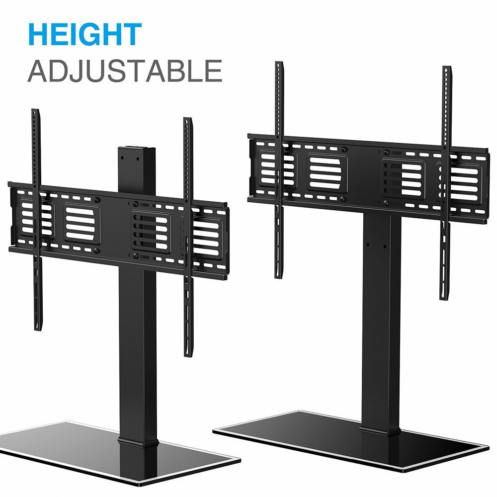 Fitueyes universal tv stand with swivel mount for 50 to 80 inch tv tt107003gb walmart com
