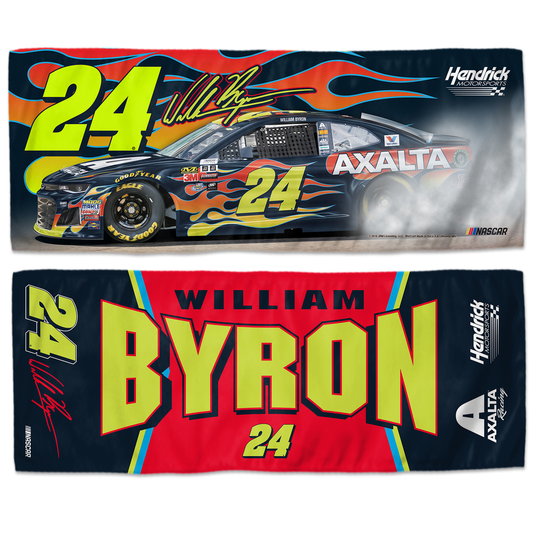 "William Byron WinCraft 2018 Driver 12"" x 30"" Cooling Towel - No Size"