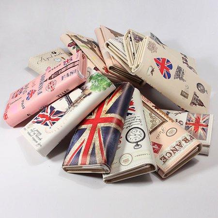 Guard Flag Bags - New Cute Cartoon Leather Long Clutch Card Case Purse Wallet Handbag Flag Bag Print