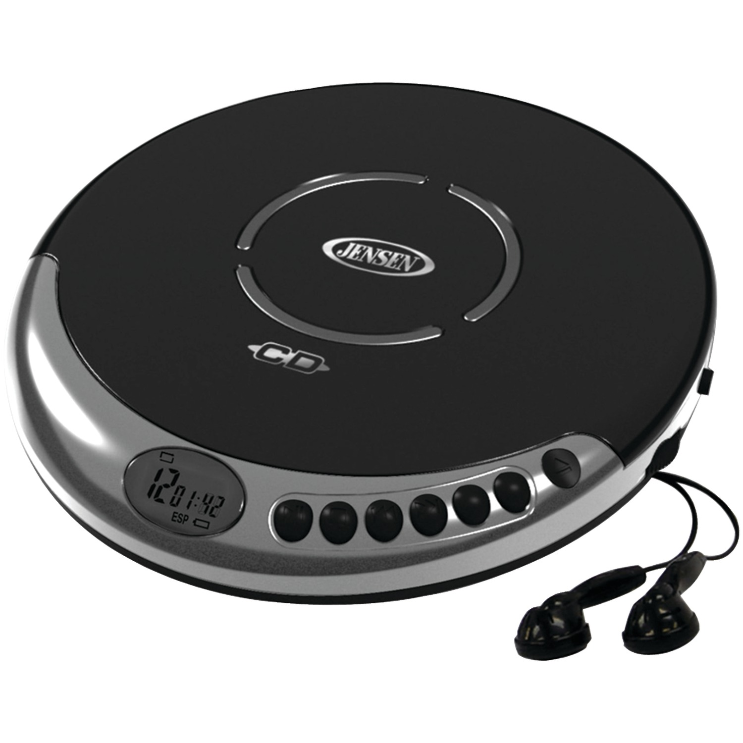 JENSEN CD-60C Personal CD Player with Bass Boost by Jensen