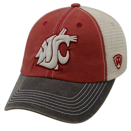 check out c017e 47331 Washington State Cougars Official NCAA Adjustable Offroad Hat Cap by Top of  the World 172606 - Walmart.com