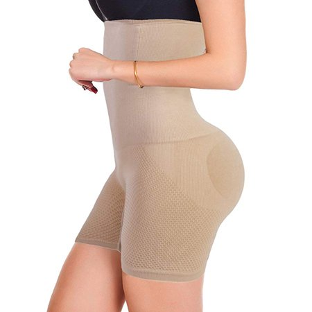 58a177bf08ad8 SAYFUT - Women s High Waist Ultra Firm Control Tummy Body Shaper Panty  Seamless Smooth Thigh Slimmer Body Shorts Shaping Brief Shapewear -  Walmart.com