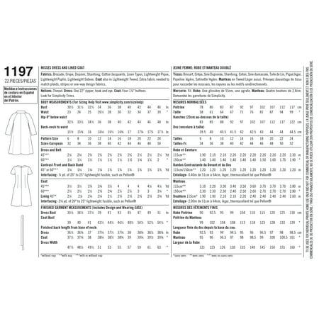 Simplicity Misses 1960S Vintage Dress & Lined Coat-16-18-20-22-24 - image 1 de 1