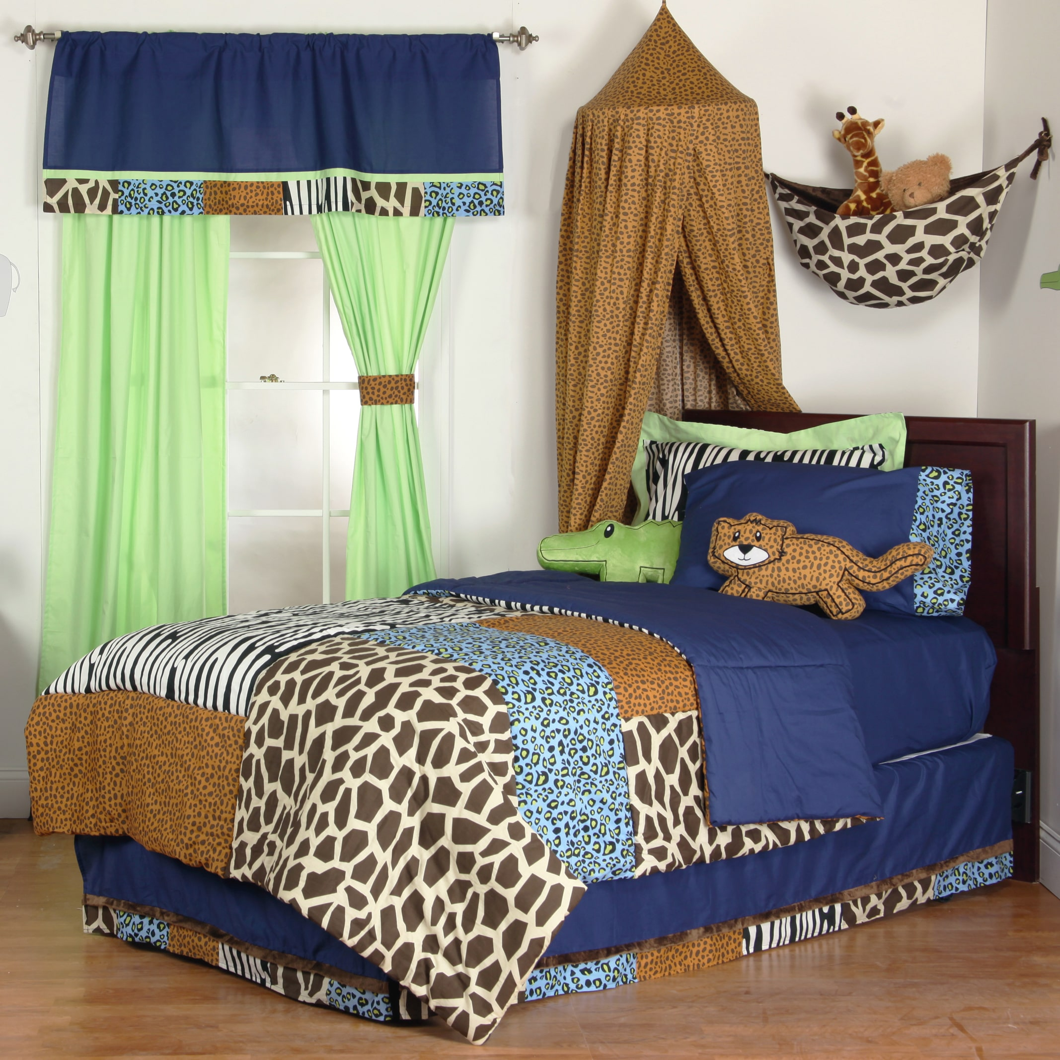 One Grace Place Boys' Jazzie Jungle 8-piece Bed-in-a-Bag ...