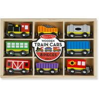 Melissa & Doug Wooden Train Cars (8-Piece Train Set)