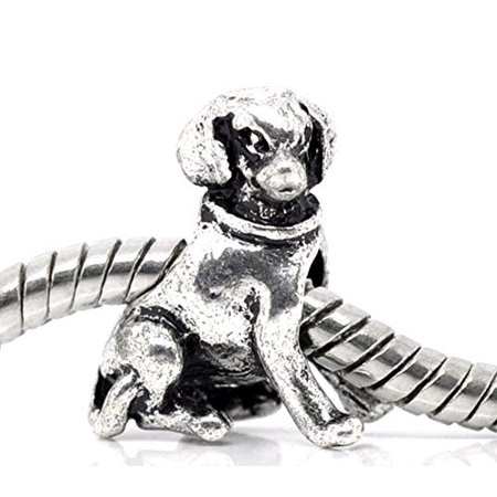 Buckets of Beads Dog Charm Beads Fits Most Major Charm Bracelets For Women Girls](Dog Charms For Bracelets)