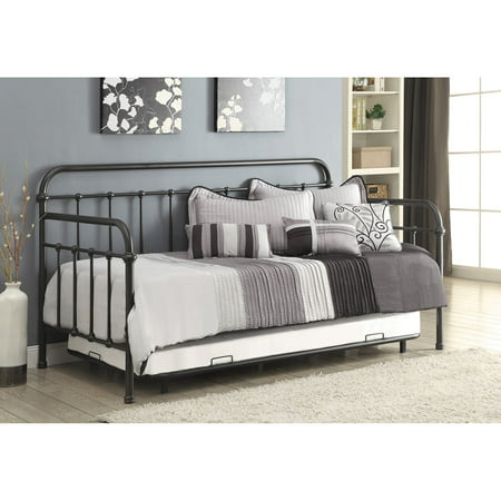 Coaster Metal Twin Daybed and Trundle in Dark Bronze Finish