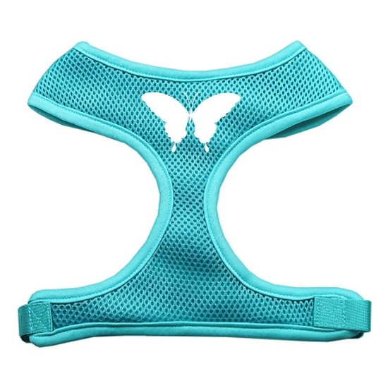 Butterfly Design Soft Mesh Harnesses Aqua Small