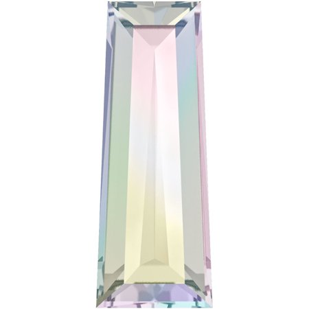 Swarovski Crystal, #4503 Tapered Baguette Fancy Stones 4x2mm, 4 Pieces, Crystal AB F ()