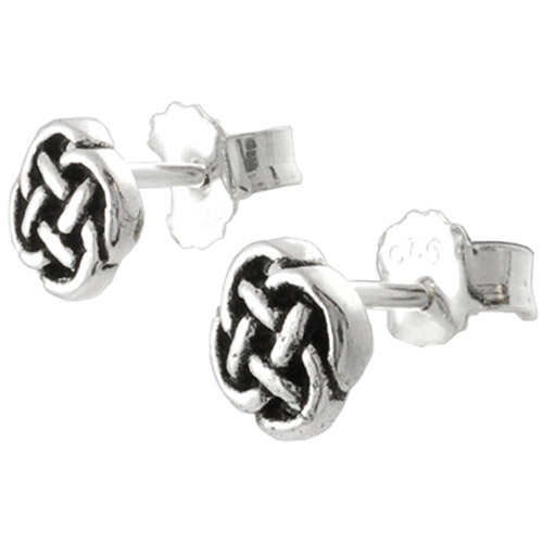 Brinley Co. Sterling Silver Celtic Knot Stud Earrings